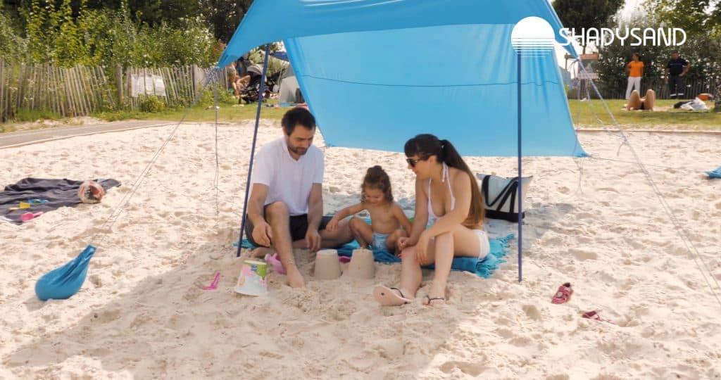 La tente de plage compacte, légère, pratique avec filtre UV50+