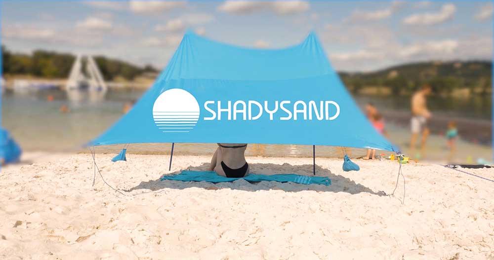 Shadysand la tente de plage familiale et compacte
