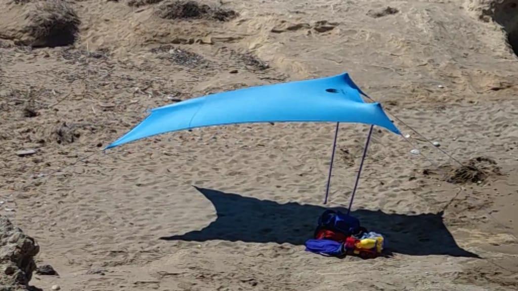 Tente de plage Shadysand - conditions venteuses